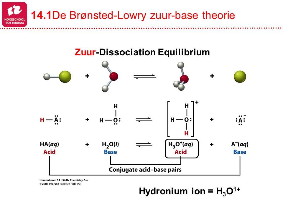 Base-Dissociation Equilibrium Om een proton te kunnen opnemen moet er een vrij electronenpaar zijn, het lone-pair .