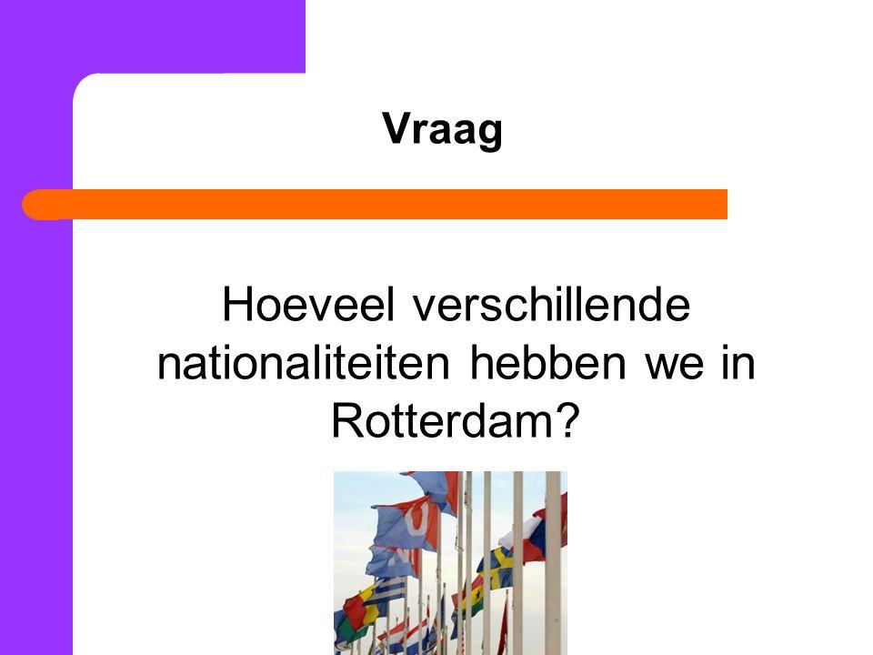Hoeveel verschillende nationaliteiten hebben we in Rotterdam? Vraag