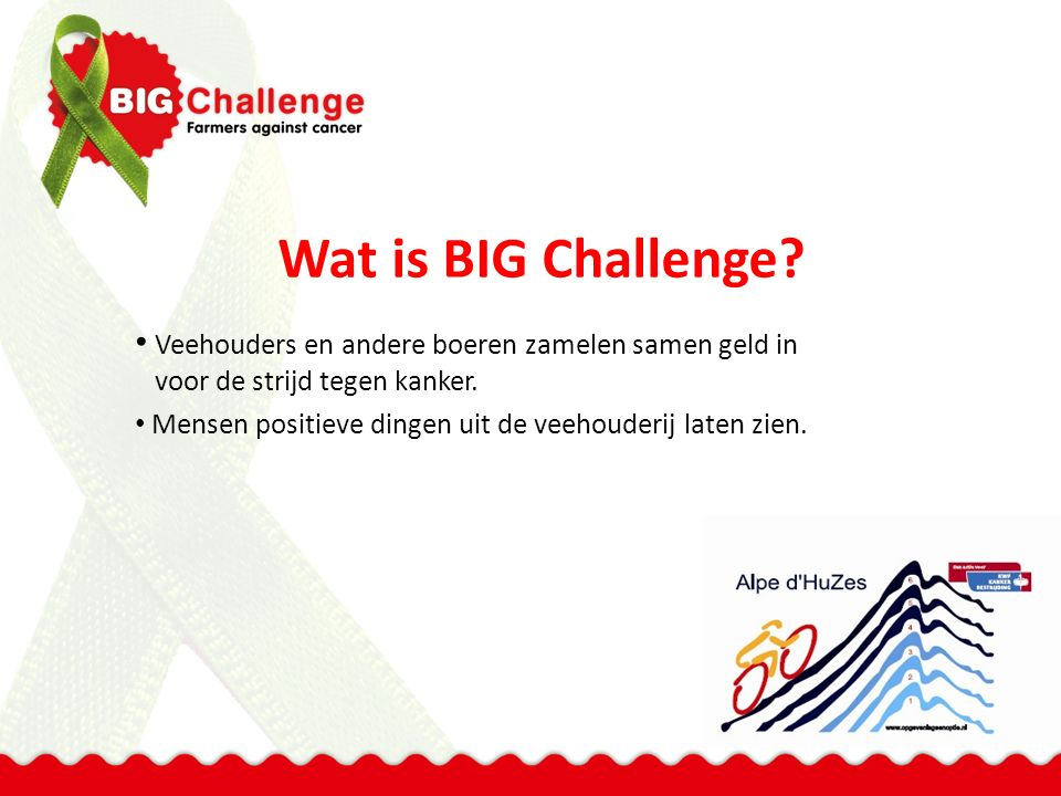 Wat is BIG Challenge.