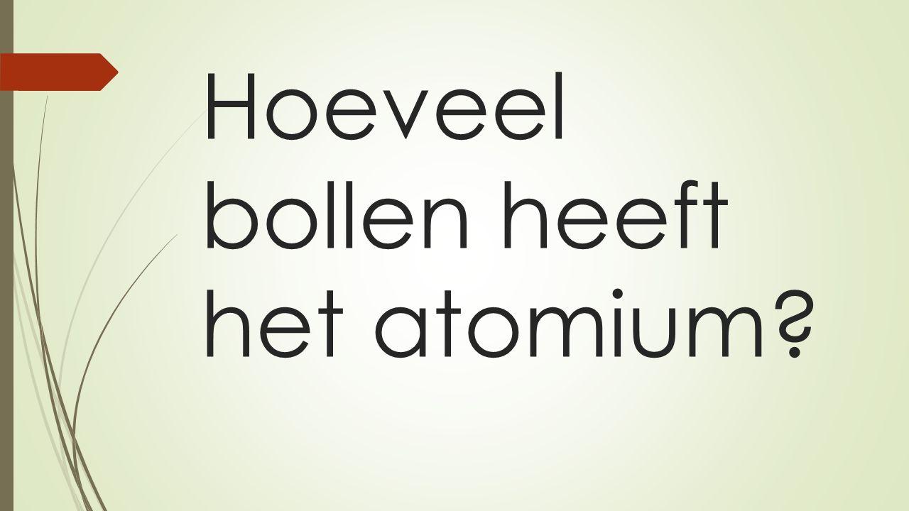 Hoeveel bollen heeft het atomium?