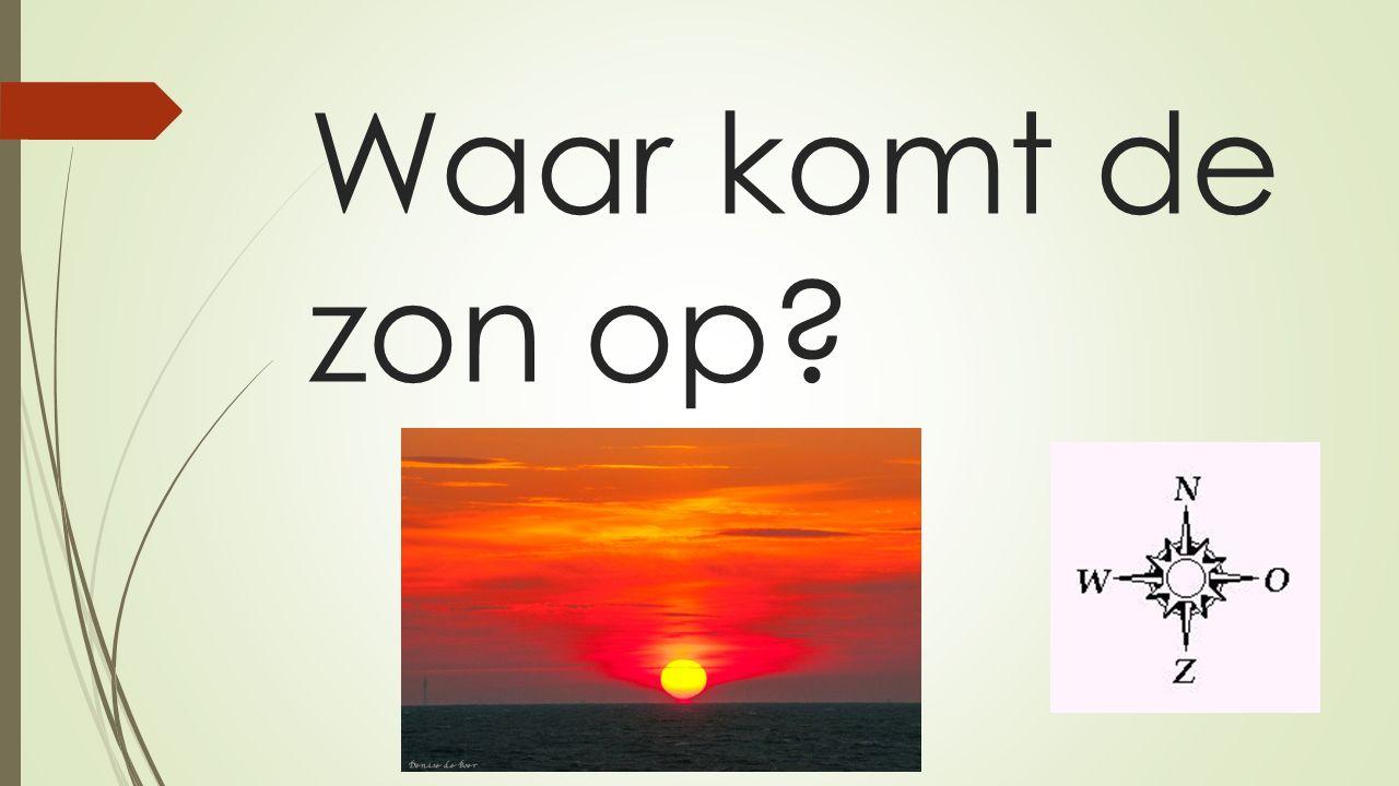 Waar komt de zon op?