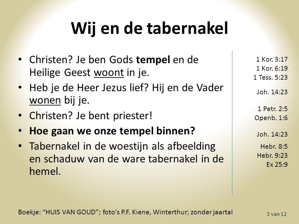 Wij en de tabernakel 3 van 12 Boekje: HUIS VAN GOUD ; foto's P.F.
