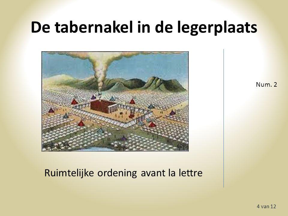 De tabernakel in de legerplaats 4 van 12 Num. 2 Ruimtelijke ordening avant la lettre