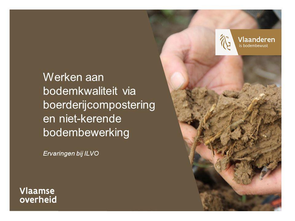 Ervaringen bij ILVO Werken aan bodemkwaliteit via boerderijcompostering en niet-kerende bodembewerking