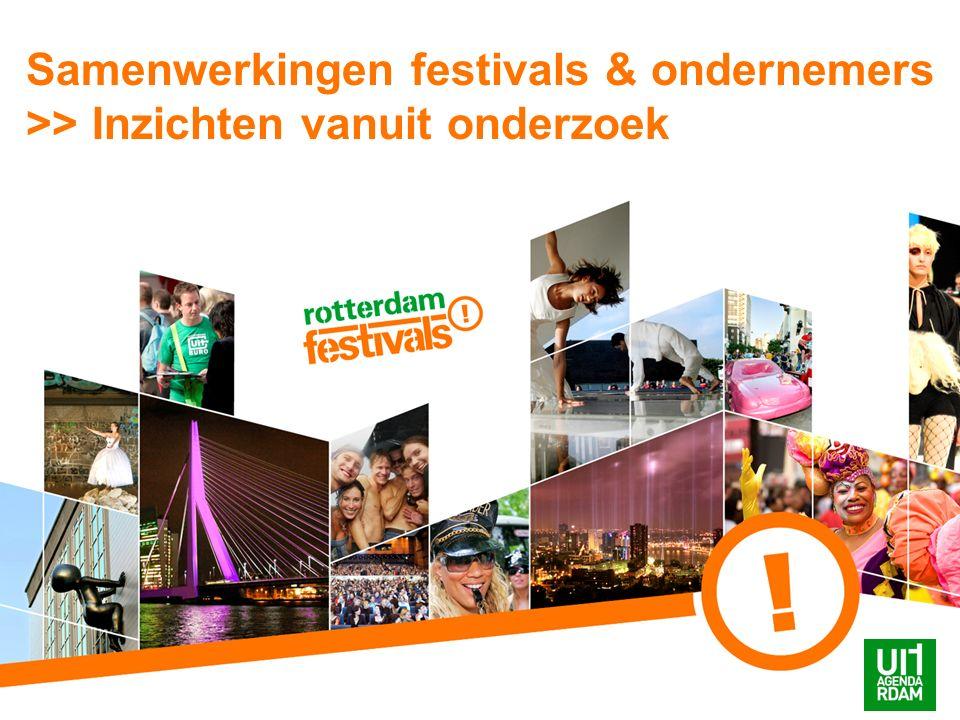 Samenwerkingen festivals & ondernemers >> Inzichten vanuit onderzoek