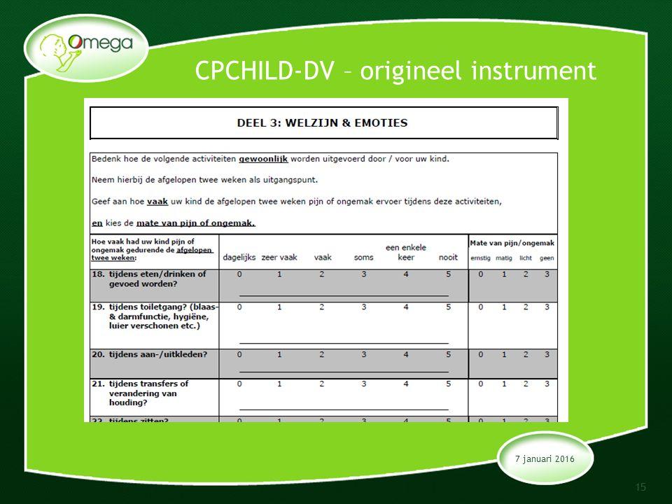 CPCHILD-DV – origineel instrument 7 januari 2016 15