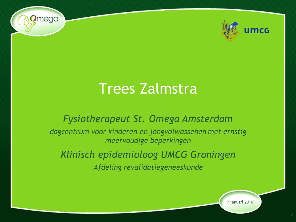 7 januari 2016 Trees Zalmstra Fysiotherapeut St.