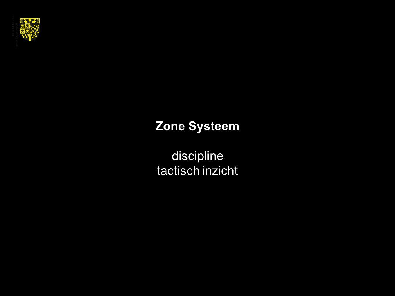 Zone Systeem discipline tactisch inzicht