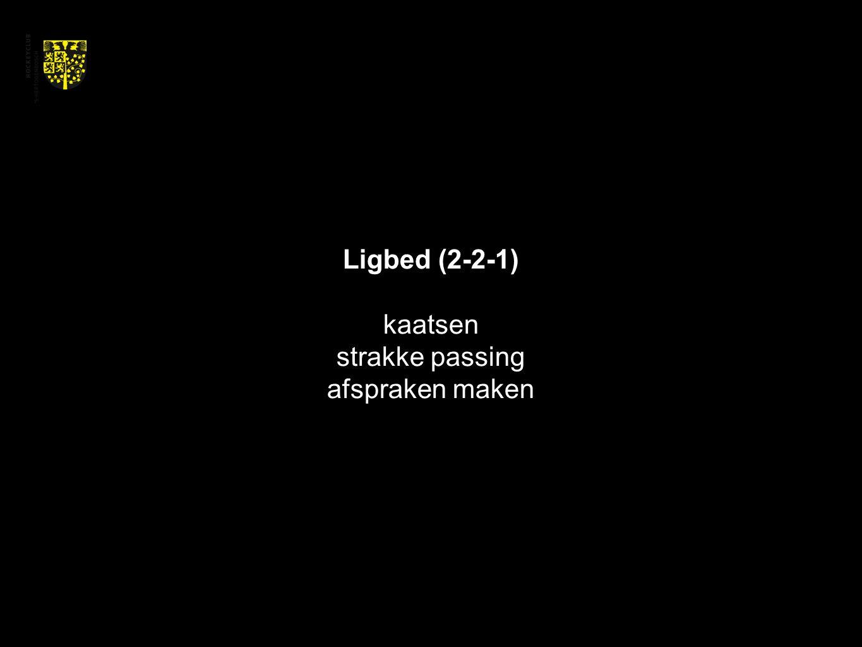 Ligbed (2-2-1) kaatsen strakke passing afspraken maken