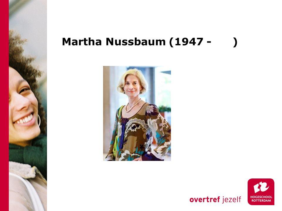 Martha Nussbaum (1947 - )