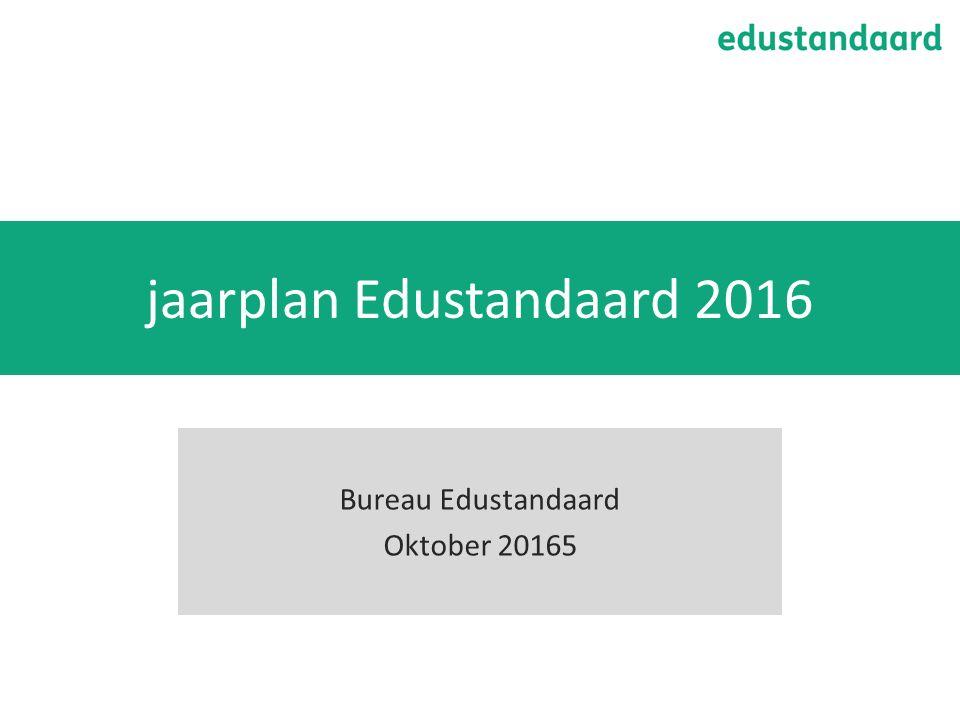 jaarplan Edustandaard 2016 Bureau Edustandaard Oktober 20165