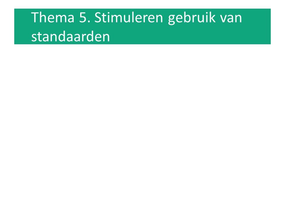 Thema 5. Stimuleren gebruik van standaarden