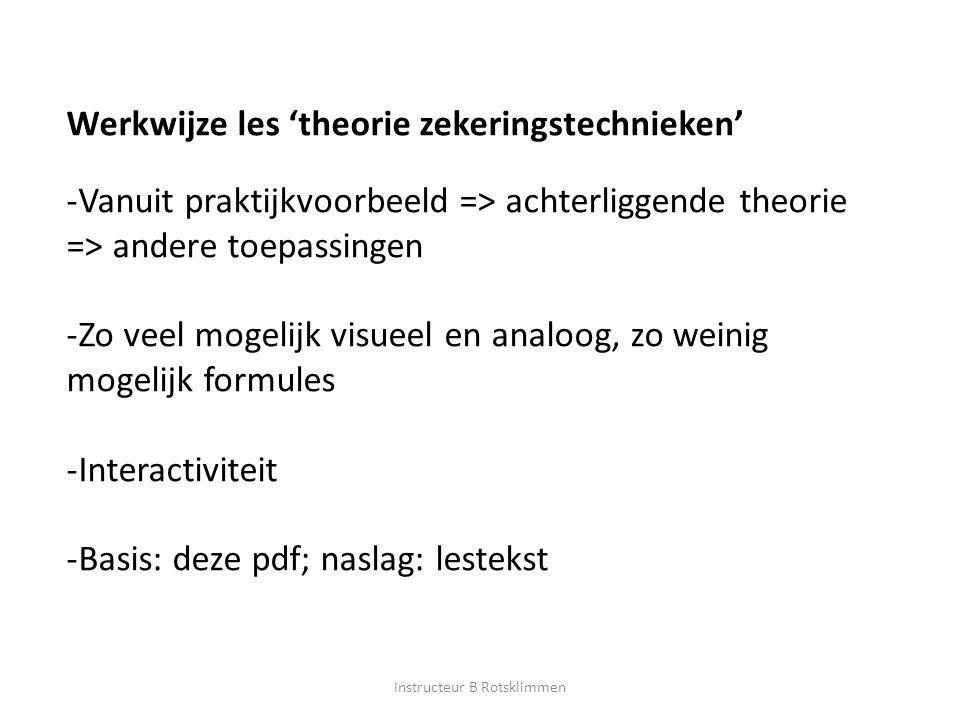 Werkwijze les 'theorie zekeringstechnieken' -Vanuit praktijkvoorbeeld => achterliggende theorie => andere toepassingen -Zo veel mogelijk visueel en an