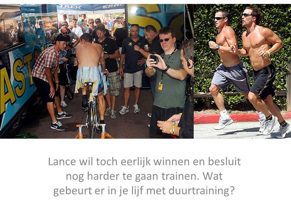 Lance wil toch eerlijk winnen en besluit nog harder te gaan trainen. Wat gebeurt er in je lijf met duurtraining?