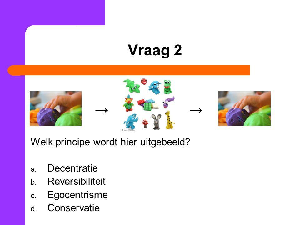 Vraag 2 → → Welk principe wordt hier uitgebeeld. a.