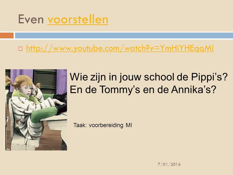 Even voorstellenvoorstellen  http://www.youtube.com/watch?v=YmHiYHEqqMI http://www.youtube.com/watch?v=YmHiYHEqqMI 7/01/2016 Wie zijn in jouw school