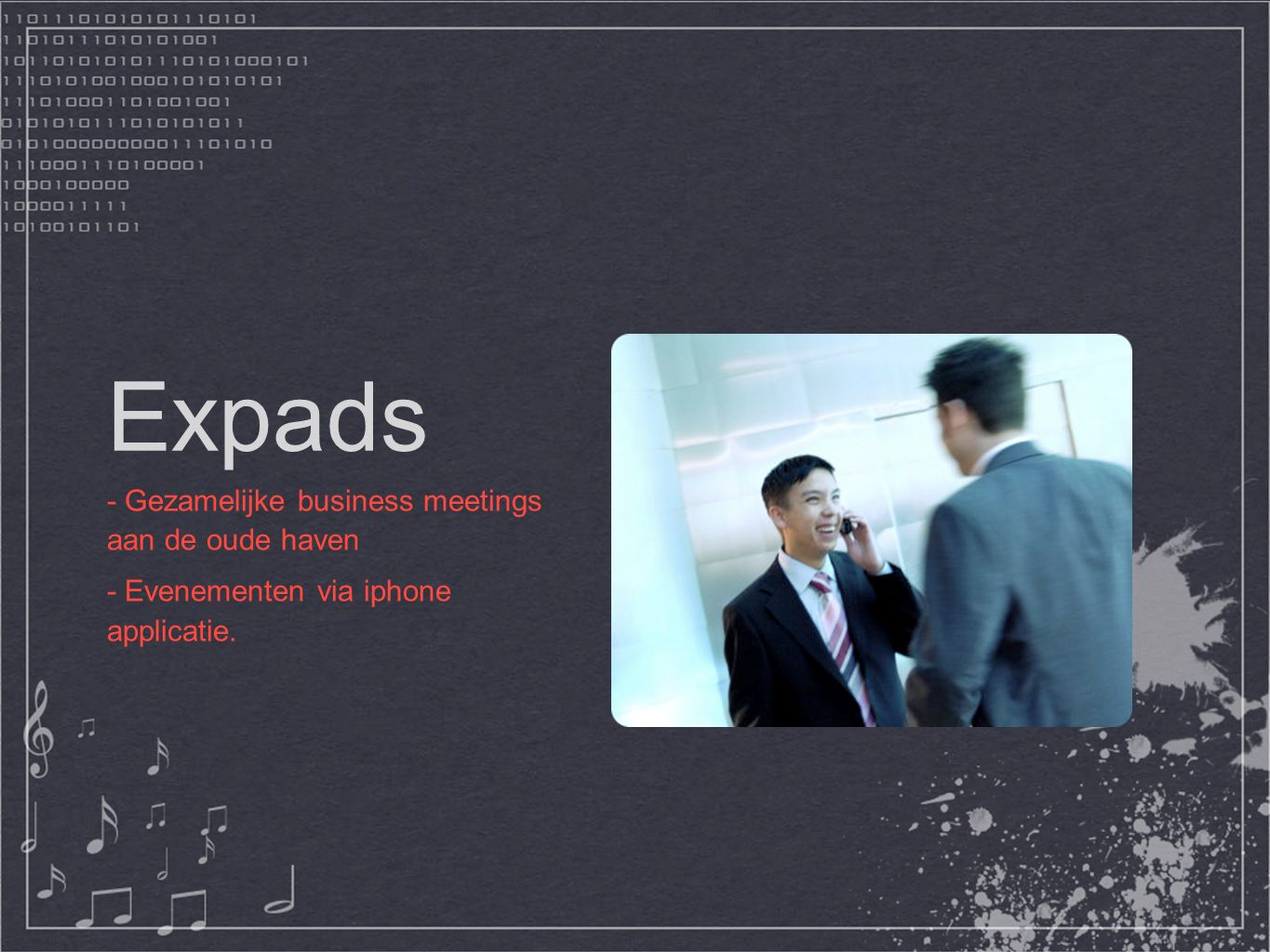 Expads - Gezamelijke business meetings aan de oude haven - Evenementen via iphone applicatie.