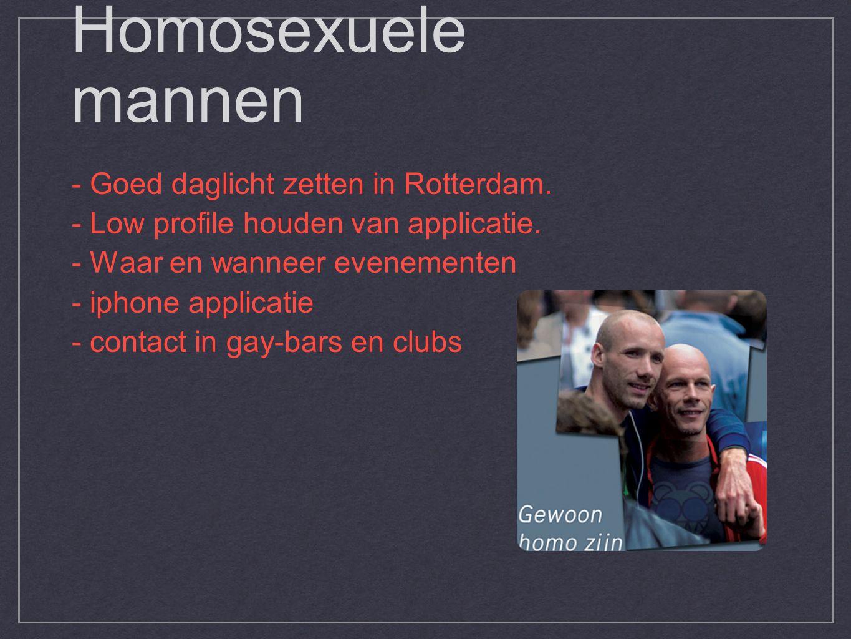Homosexuele mannen - Goed daglicht zetten in Rotterdam.