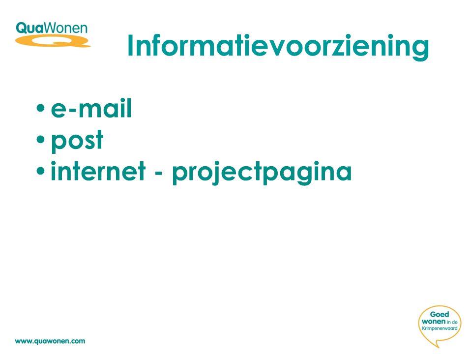 Informatievoorziening e-mail post internet - projectpagina