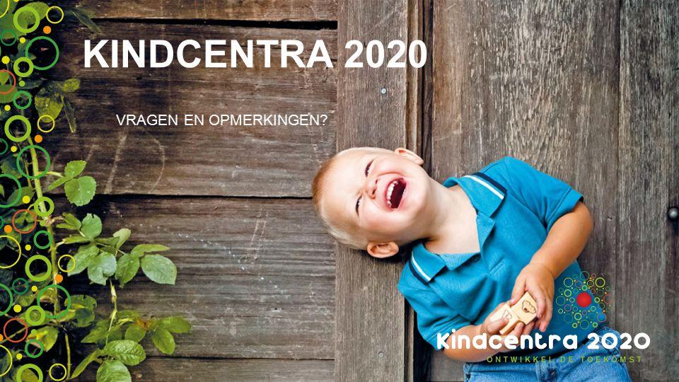KINDCENTRA 2020 VRAGEN EN OPMERKINGEN?