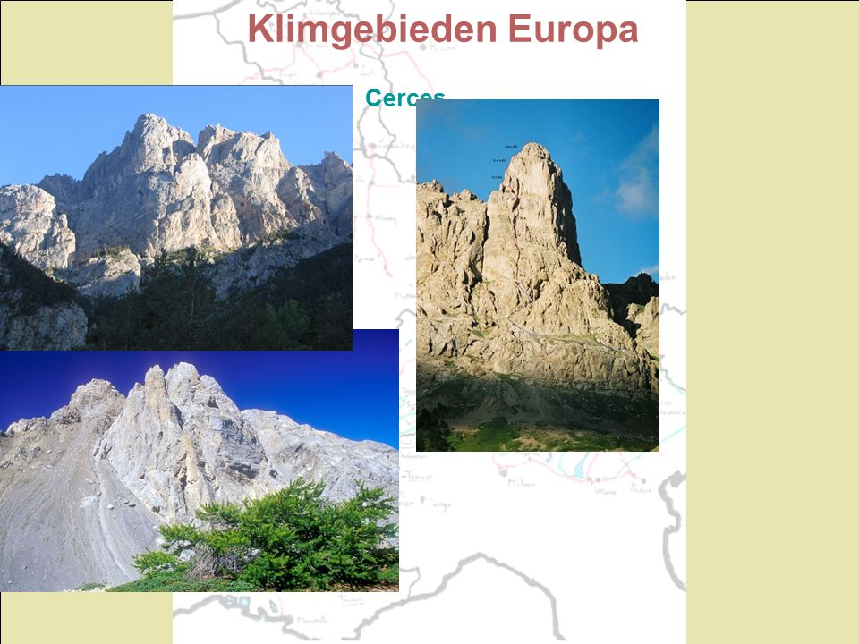 Klimgebieden Europa Cerces