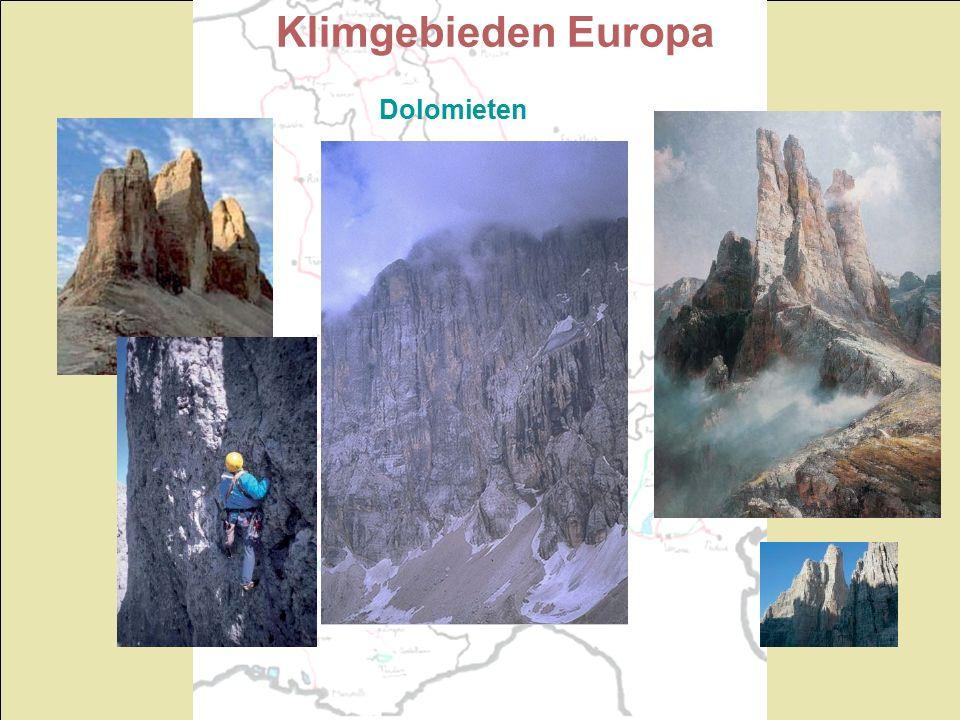 Klimgebieden Europa Dolomieten
