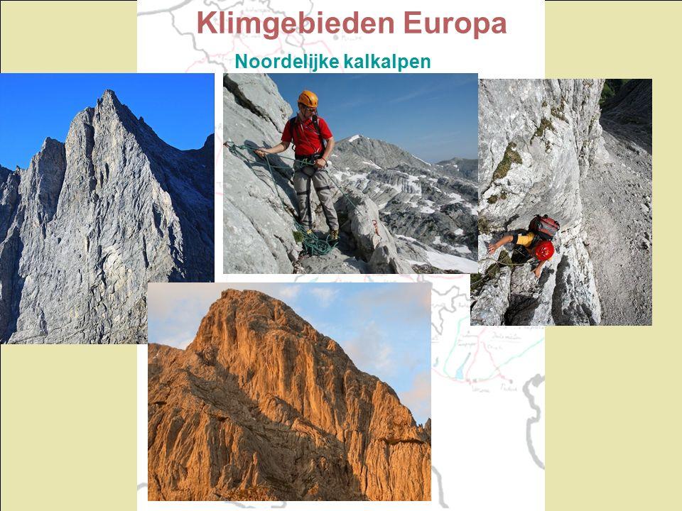 Klimgebieden Europa Noordelijke kalkalpen