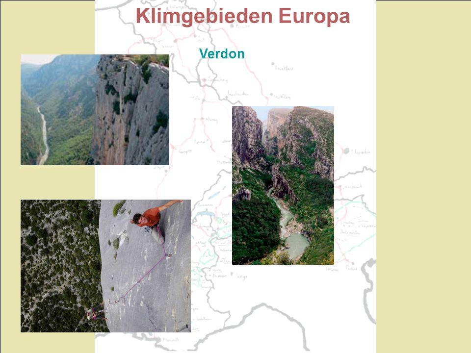 Klimgebieden Europa Verdon