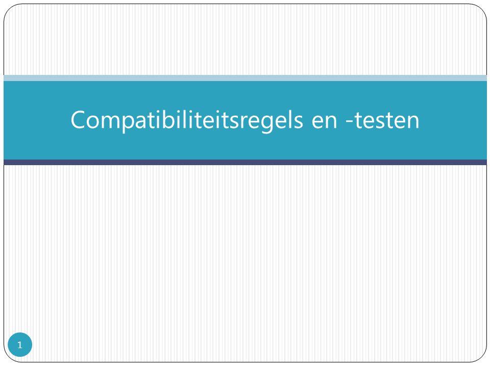 Compatibiliteitsregels en -testen 1