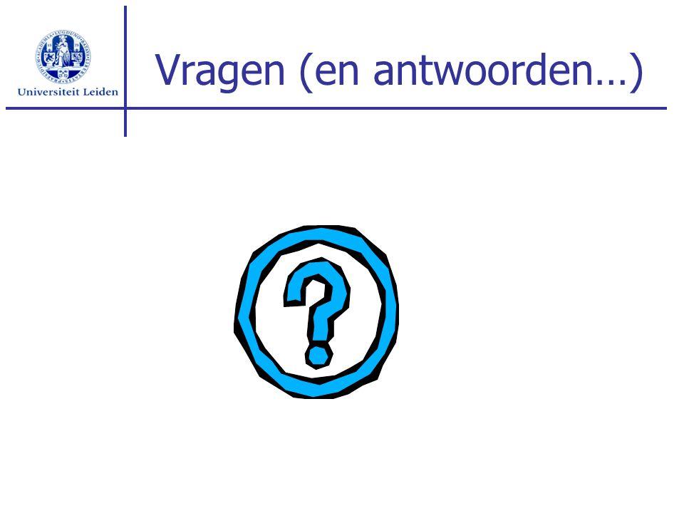Vragen (en antwoorden…)