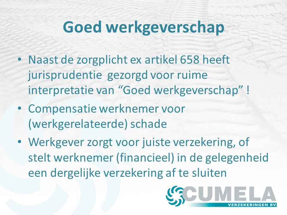 Goed werkgeverschap Naast de zorgplicht ex artikel 658 heeft jurisprudentie gezorgd voor ruime interpretatie van Goed werkgeverschap .