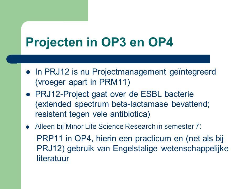 BML-Keuzevakken in OP4 Minor Life Science Research In OP4 kunnen 3 cursussen worden gekozen uit de volgende vier: - Ontwikkelingsbiologie (OWB12, voor art.12), - Klinische Genetica (KGE11) - Tumorbiologie (TUM11) en - Biochemie (BCH21).