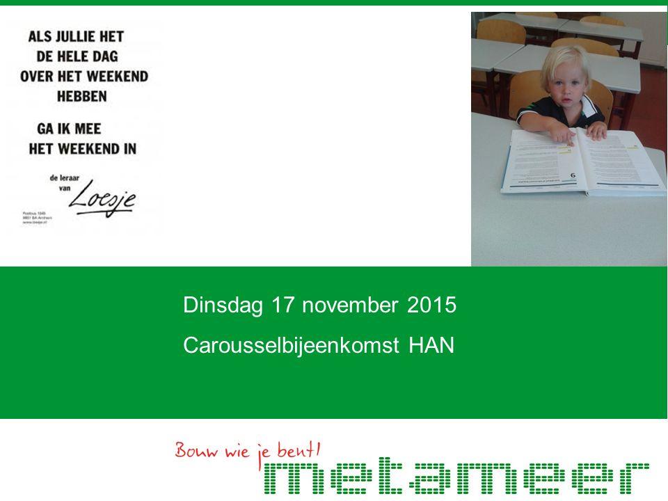 Dinsdag 17 november 2015 Carousselbijeenkomst HAN