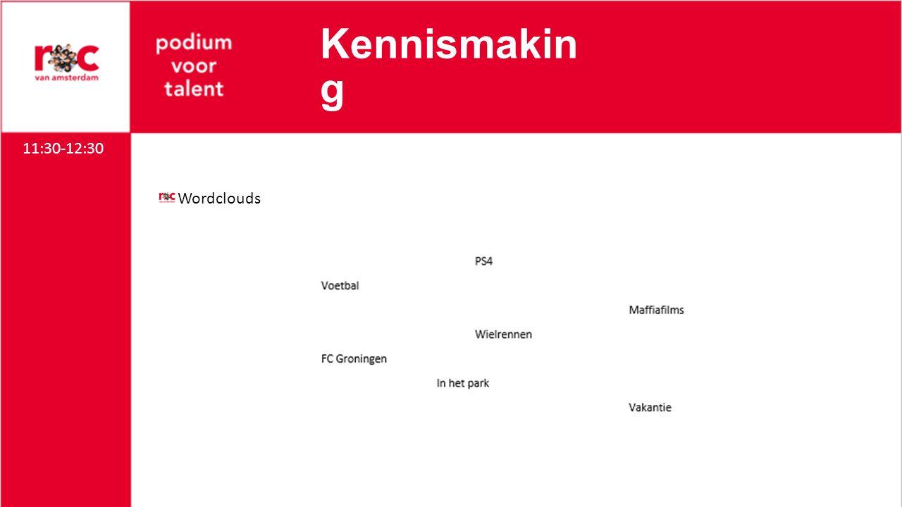 Kennismakin g Wordclouds 11:30-12:30