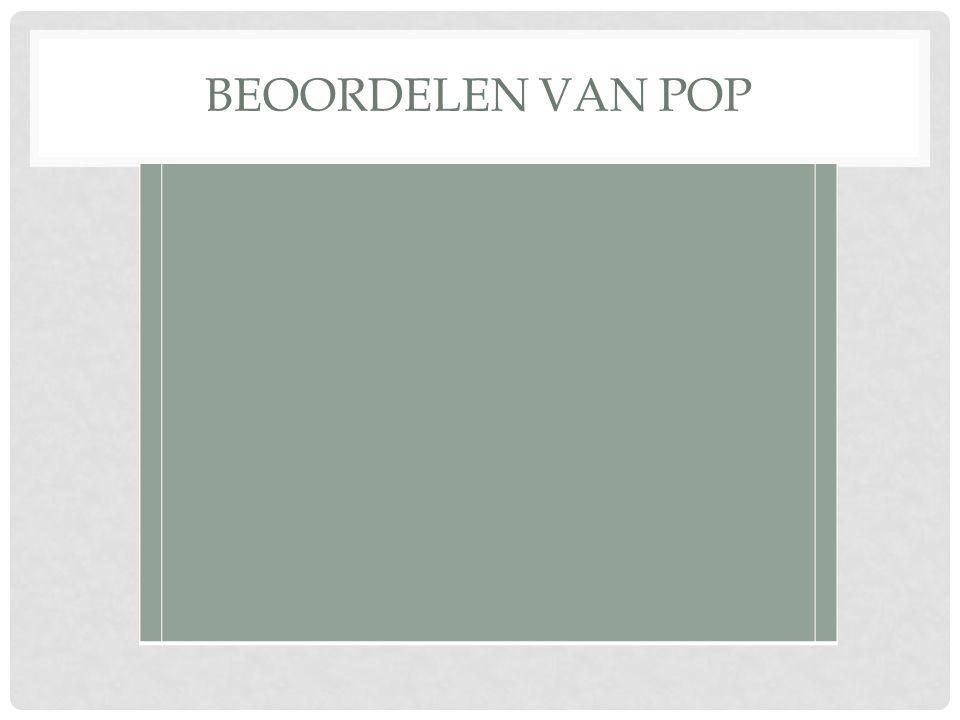 BEOORDELEN VAN POP