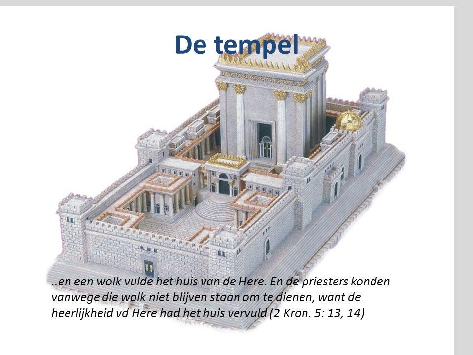De tempel..en een wolk vulde het huis van de Here.