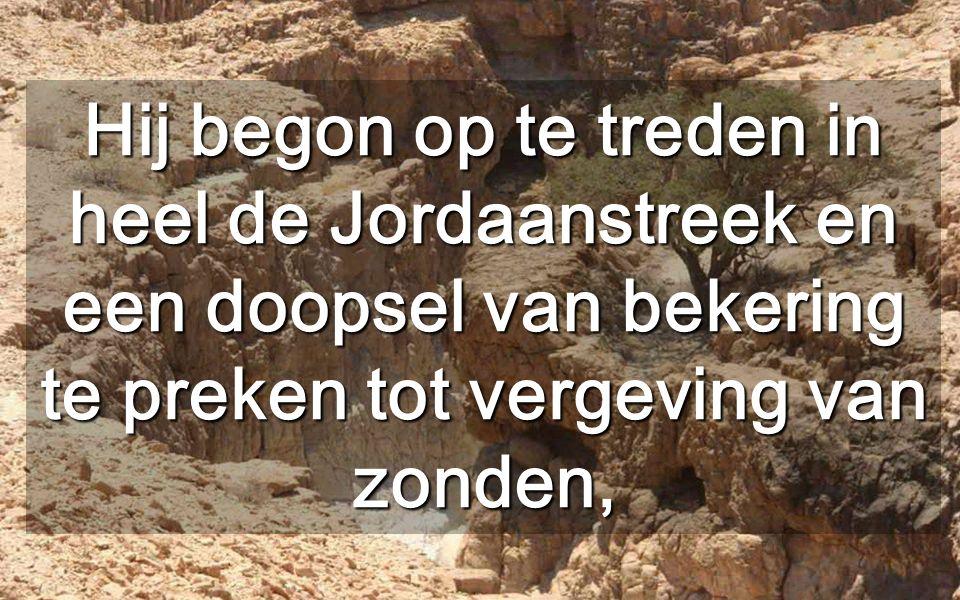 Johannes geeft ons elke Advent het Woord door Teveel woorden beletten ons het essentiële woord te horen Woestijn van Judea (achteraan, de Dode Zee)