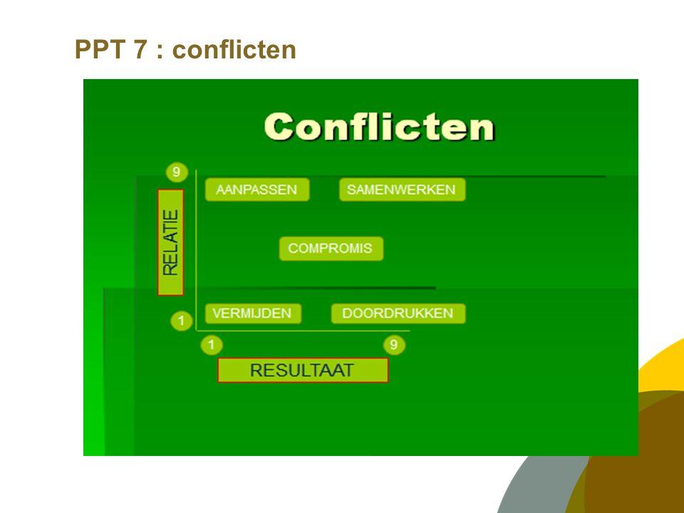 PPT 7 : conflicten