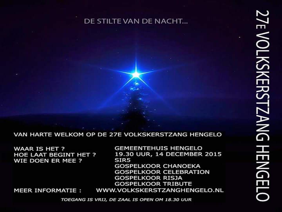 Voor alle 60 Plussers van West en Oost.15 December hopen we weer samen kerst te vieren.