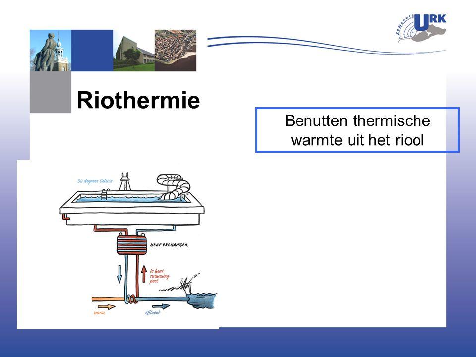 Riothermie Benutten thermische warmte uit het riool