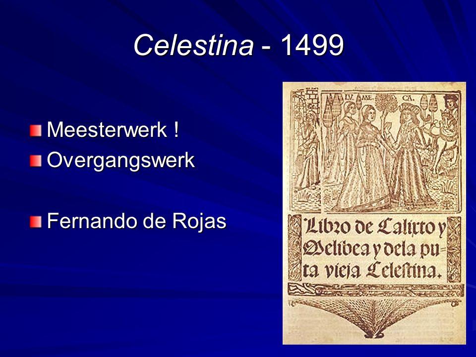 Celestina - 1499 Meesterwerk ! Overgangswerk Fernando de Rojas