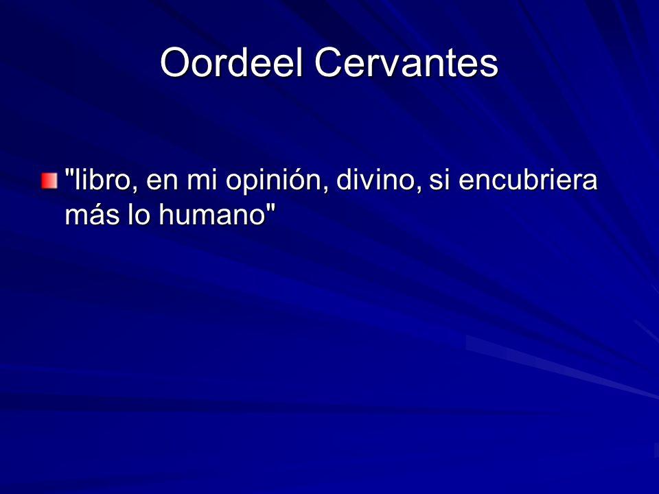 Oordeel Cervantes