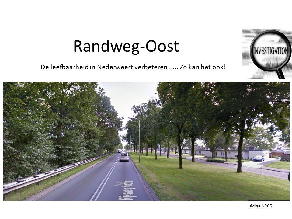 Randweg-Oost Huidige N266 De leefbaarheid in Nederweert verbeteren..... Zo kan het ook!