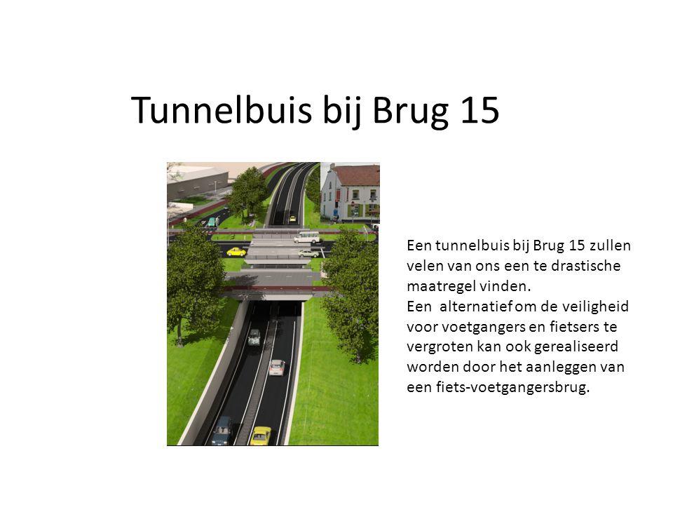 Tunnelbuis bij Brug 15 Een tunnelbuis bij Brug 15 zullen velen van ons een te drastische maatregel vinden.