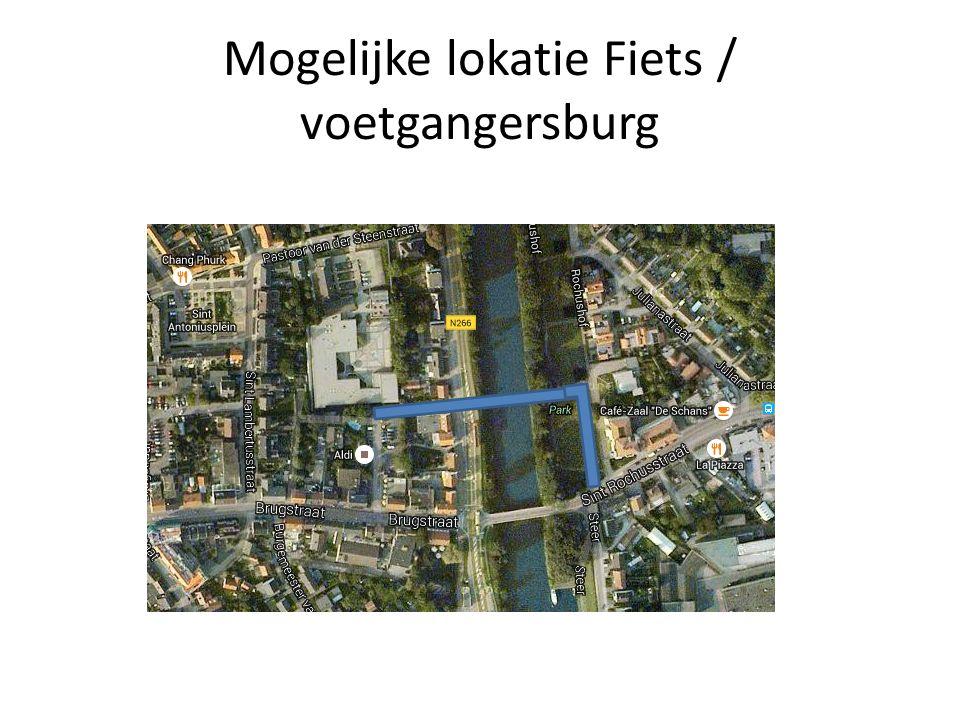 Mogelijke lokatie Fiets / voetgangersburg