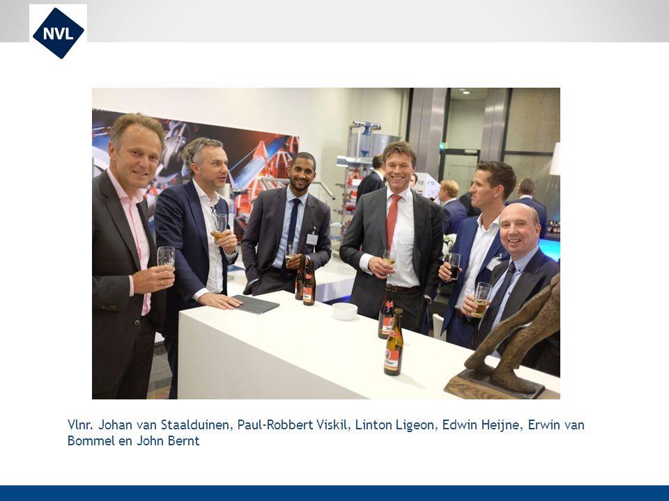 Vlnr. Johan van Staalduinen, Paul-Robbert Viskil, Linton Ligeon, Edwin Heijne, Erwin van Bommel en John Bernt