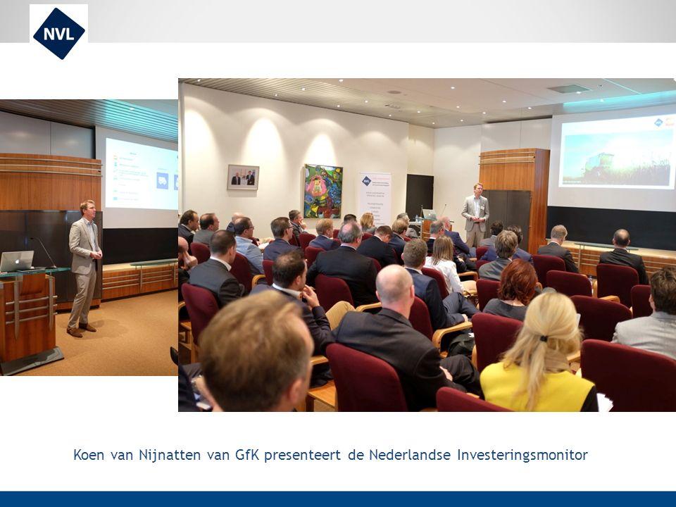 Koen van Nijnatten van GfK presenteert de Nederlandse Investeringsmonitor