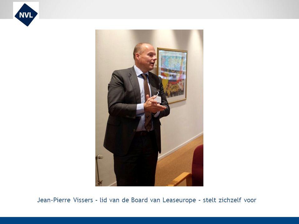 Jean-Pierre Vissers – lid van de Board van Leaseurope – stelt zichzelf voor
