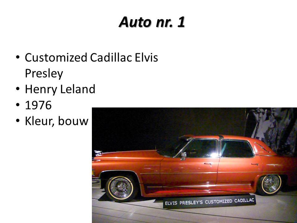 Auto nr. 1 Customized Cadillac Elvis Presley Henry Leland 1976 Kleur, bouw