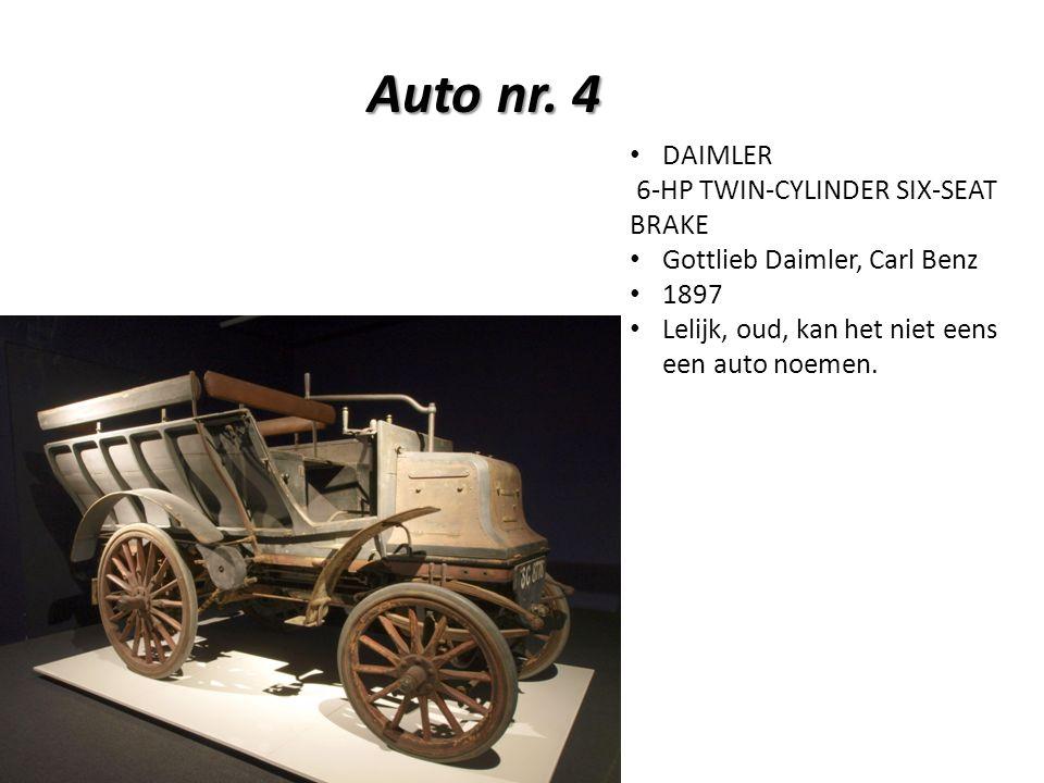 Auto nr. 4 Auto nr.